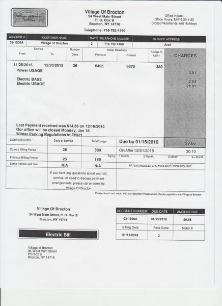 Example Utility Bill